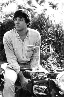 In the driving seat: McCartney, pictured astride his motorbike in 1965, tried to lead the band in the wake of Brian Epstein's death.