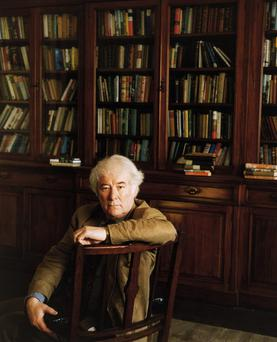 'Seamus Heaney was the only Irish Nobel Prize winner on my books and I was proud enough of my being the making of him' Photo: Steve Pyke