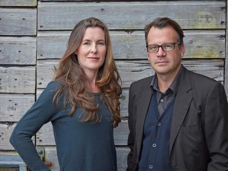 Twice as nice: Authors Karen Gillece and Ian Perry co-write under the pseudonym Karen Perry.