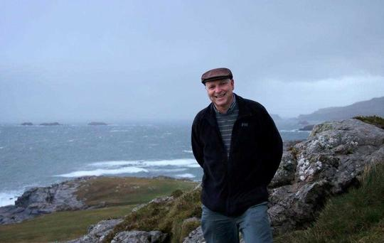 Affable guide: Paul Clements at the start of his trip at Malin Head, Co Donegal.