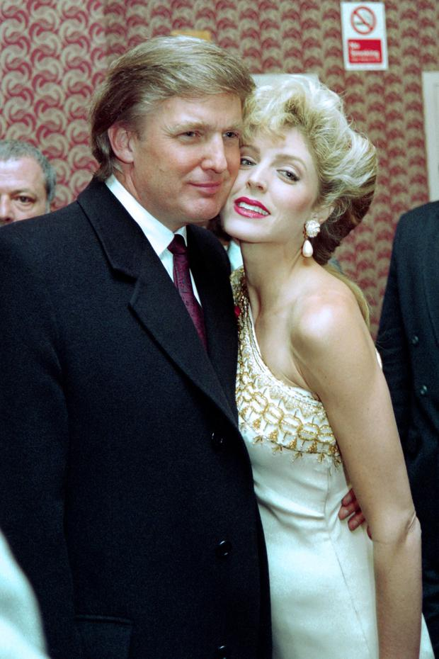 Love life: Trump poses with Marla Maples in 1993.