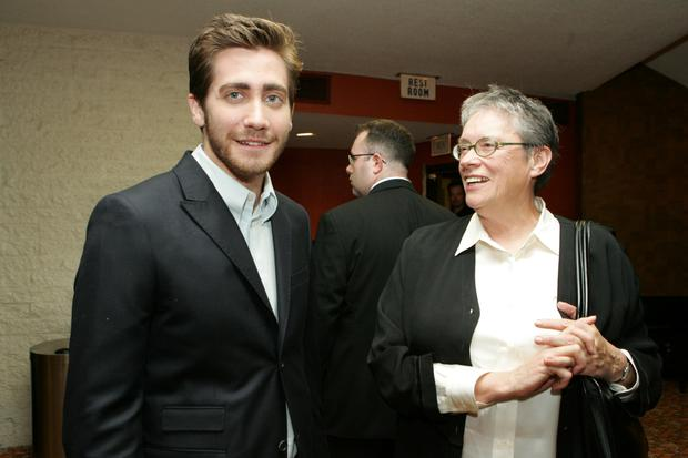 Actor Jake Gyllenhaal and author Annie Proulx at the premiere of Brokeback Mountain