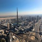 The world's tallest structure, the 828m Burj Khalifa in Dubai