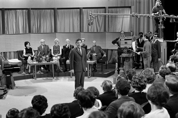 Gay Byrne presenting The Late Late Show in 1969.