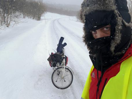 Freezing saddles: Tim Moore's book recounts his arduous adventures from the Arctic Circle to the Black Sea