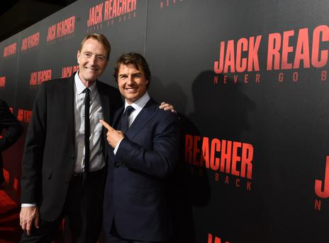 Big hit: Lee Child with Tom Cruise, who plays his creation, Jack Reacher