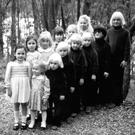 Some of the 'Hamilton-Byrne' children lined up in their best clothes to be baptised at St Mary's Catholic Church in 1978