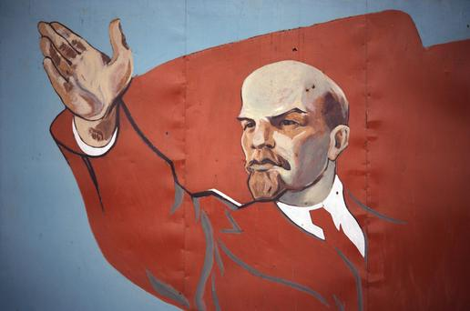 Mural of Vladimir Lenin. Photo: Getty