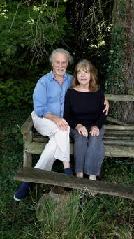 Rosheen Finnigan with husband Cal, who together compiled and edited the correspondence between Rosheen's mother, Mary, and father, David, which feature in Letters from the Suitcase