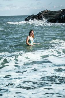 Cleansed: The sea provides much-needed escapism for Ruth Fitzmaurice. Photo: Marc Atkins