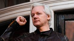 Bond: Andrew O'Hagan met Assange, above, when he was hired to ghostwrite his biography