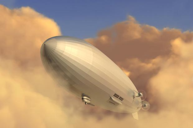 Airway to heaven: Bowler is kind to those who were mistaken with predictions - such as air travel for the masses using blimps rather than aeroplanes
