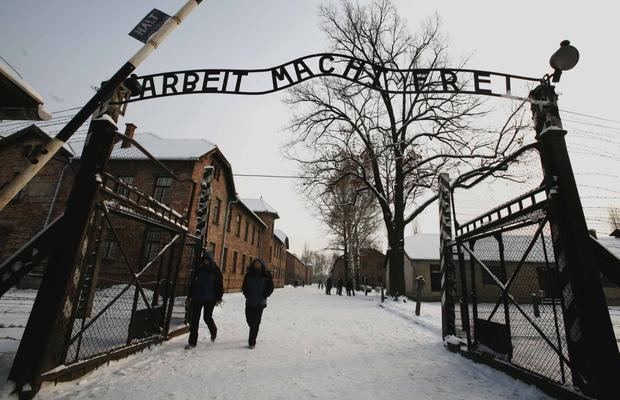Gates to hell: Auschwitz entrance