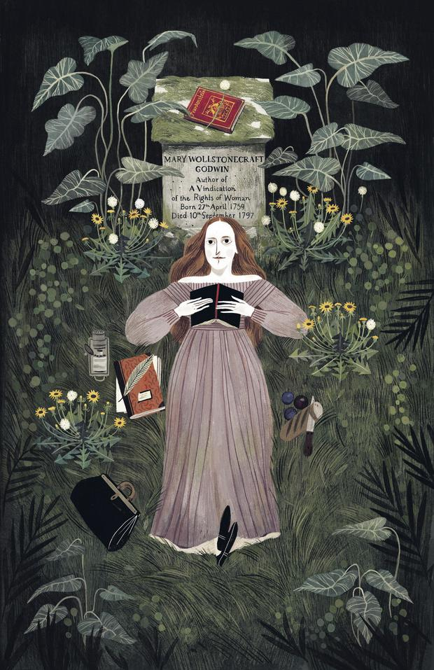 Illustration by Júlia Sardà, from the book Mary and Frankenstein written by Linda Bailey and published by Andersen Press