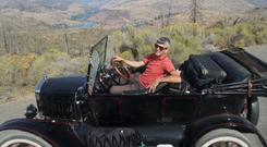 Falling apart: Tim Moore trekked coast-to-coast across the US in his 93-year-old Ford Model T