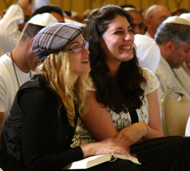 Like a prayer: Madonna at a Kabbalah conference in Tel Aviv, Israel in 2004