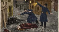 Irish victim: A 1891 painting shows police finding the body of Mary Jane Kelly