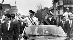 Power grab: General Augusto Pinochet (left) after leading a military coup in Chile