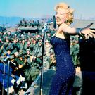 Marilyn Monroe entertaining the US troops in Korea in 1954