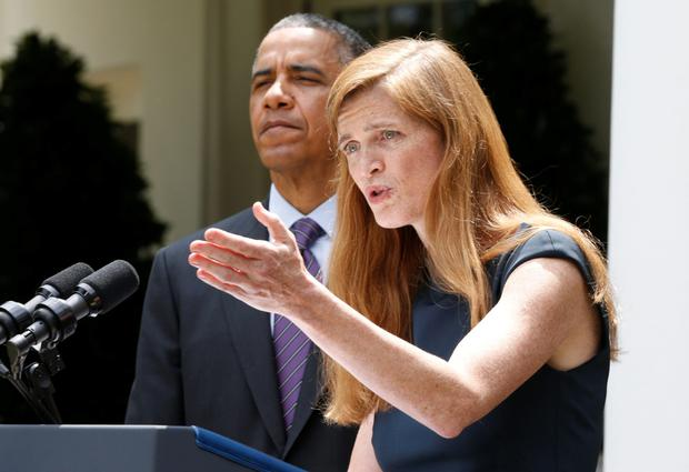 Close bond: Samantha Power and Barack Obama