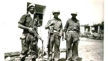 Vindication: Lt Noel Carey, Kieran Lynch and Sgt Tommy Kelly of A Company in Jadotville just before the battle