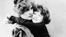 Ruminative mood: Constance Wilde with her young son Cyril in 1889