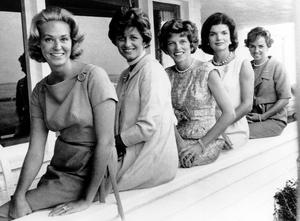 The Kennedy women (from left) Joan, Jean Kennedy Smith, Eunice Kennedy Shriver, Jackie and Ethel