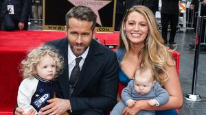 Virtual (and real) displays of affection: Ryan and Blake with their kids. #Knock-on effect