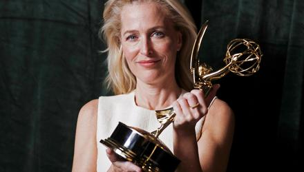 Gillian Anderson received an Emmy for her portrayal of Margaret Thatcher in The Crown