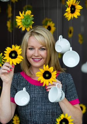 Claire Byrne launching Ireland's biggest coffee morning