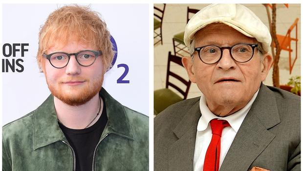 Ed Sheeran features in a portrait by David Hockney (PA)