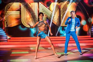 Des with Giulia Dotta dancing a cha-cha during the fifth episode of RTE's 'Dancing With The Stars'