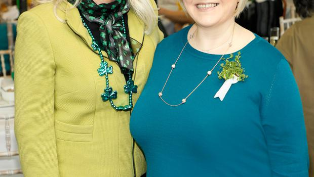 Linda Keating and Carmel Breheny at the St. Patrick's Day Festival VIP Breakfast sponsored by Marks &Spencer at the Rooftop Café