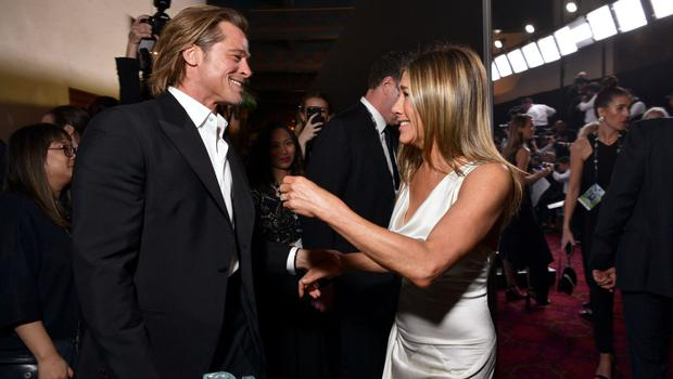 Brad Pitt and Jennifer Aniston set tongues wagging at the Screen Actors Guild Awards