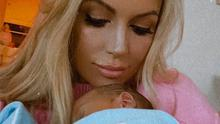 Rosanna Davison and her newborn son. Photo: Instagram.