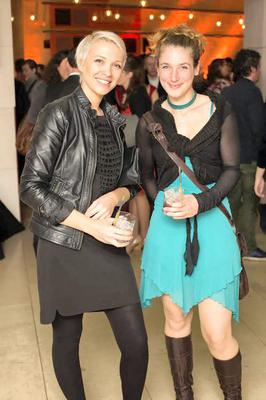 Olga Sesjaka and Tanja Thomas at the Hennessy Portrait Prize, in association with the National Gallery of Ireland