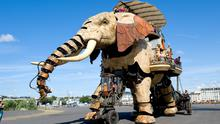 A trip never to forget: The elephant at Les Isle des Machines in Nantes. No trip to Nantes would be complete without a visit.