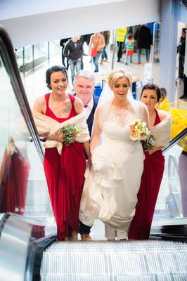 The bridal party arrive at Ikea
