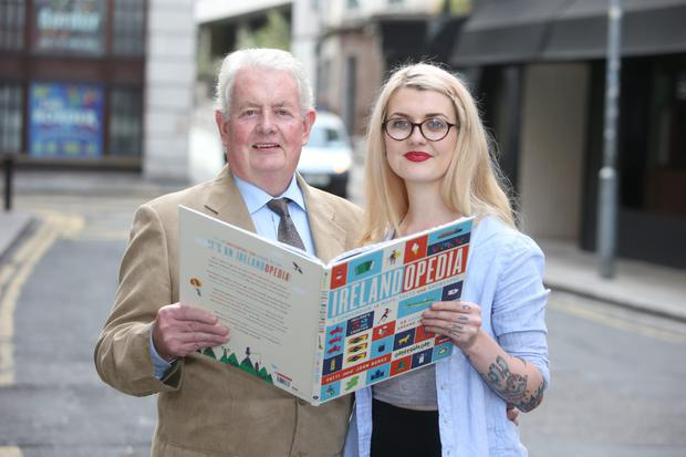Family ties: Dad and daughter duo John and Fatti Burke worked together on 'Irelandopedia'.