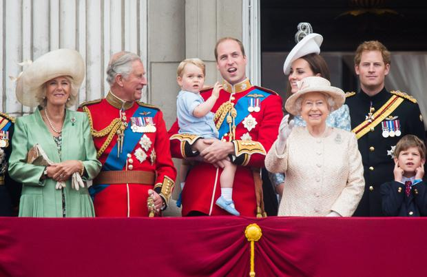 18. For his first Trooping The Colour, George stole the show among a balcony of royal family members, including Queen Elizabeth II.