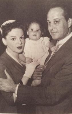 Judy Garland with baby Lorna Luft and then husband, Sidney Luft.