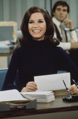 Breaking new ground: Starring in The Mary Tyler Moore Show