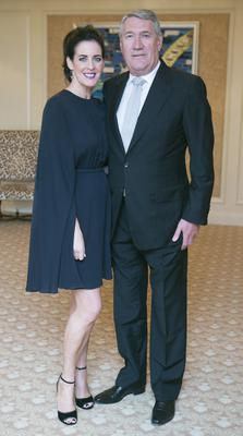 Shelly Corkery and Paul Kelly at the annual ISPCC Brown Thomas fashion Show in the Four Seasons Hotel in Dublin