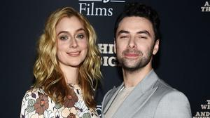 Caitlin Fitzgerald and Aidan Turner. Picture: Getty