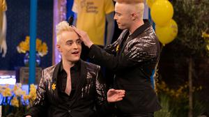 Jedward on the Late Late Show. Photo: Anders Poveda