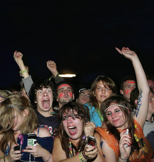 How it should be: Proper revellers get into the spirit of the night at Electric Picnic.