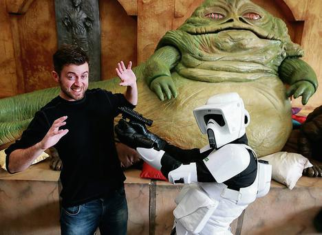 Illustrator Will Sliney at the Star Wars exhibition