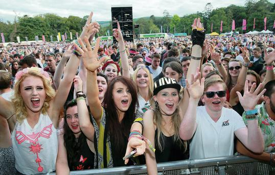 Festival goers enjoy the fun at the Longitude festival at Marlay Park in Dublin