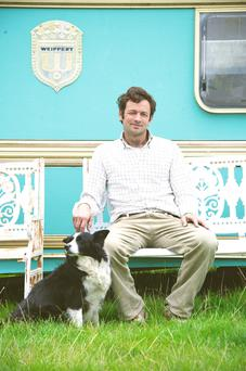 Thomas Cosby owner of the Stradbally Estate on site as with his dog Penny. Photo: El Keegan.