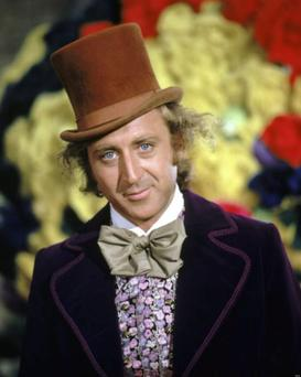 Exuberant but macabre: Gene Wilder in 'Willy Wonka & The Chocolate Factory', directed by Mel Stuart, 1971. (Photo by Silver Screen Collection/Hulton Archive/Getty Images).
